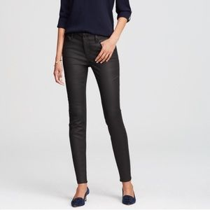 Ann Taylor Coated Denim LOFT Legging Jeans